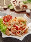Еда салата тайца yum горячая и пряная стоковое изображение rf