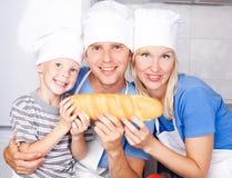 Еда семьи Стоковое Фото