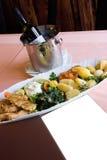 еда служила Стоковые Фотографии RF