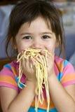 еда спагетти Стоковые Изображения
