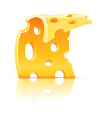 еда сыра продырявит пористый желтый цвет ломтика иллюстрация штока