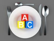 Еда с блоками игрушки бесплатная иллюстрация