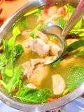 Еда Таиланда супа рыб Pla Kang Тома Yum стоковое изображение