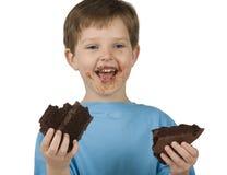еда торта мальчика Стоковые Изображения RF