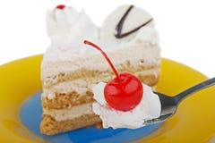 еда торта Стоковая Фотография