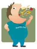 еда тучного человека Стоковые Изображения RF