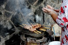 Еда улицы в Хо Ши Мин Стоковое фото RF