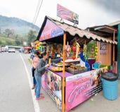 Еда улицы в Volcan стоковая фотография