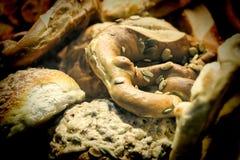 Еда улицы, свежая хлебопекарня, магазин улицы, еда хлебопекарни стоковое изображение rf