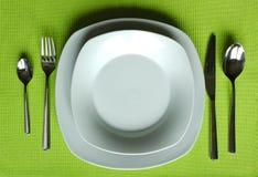 еда установленное ультрамодного Стоковое Фото