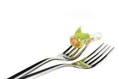 еда фасоли над белизной ростка Стоковая Фотография RF