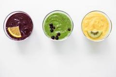 Еда фруктового сока Smoothies здоровая Стоковое Изображение RF