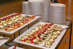 Еда шведского стола стоковые фотографии rf
