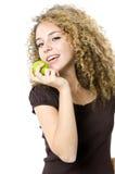 еда яблока Стоковая Фотография
