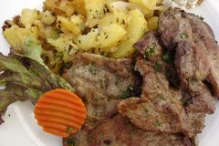 Еда, Barbecued мясо Стоковое фото RF