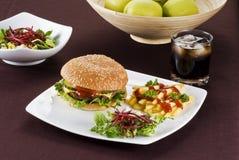 еда beefburger Стоковое Фото