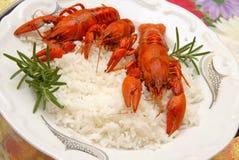 еда crayfish Стоковое Изображение