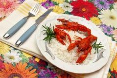 еда crayfish Стоковое Фото