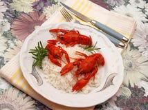 еда crayfish Стоковые Изображения RF