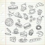 еда doodle Стоковая Фотография