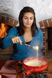 еда fondue Стоковые Фотографии RF