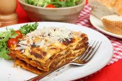 еда lasagna говядины Стоковые Изображения