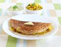 Еда Masala Dosa южная индийская вегетарианская Стоковое Фото