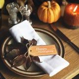 Единение еды торжества официальный праздник в США в память первых колонистов Массачусетса Стоковое Изображение RF