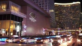Едущ прокладка в Лас-Вегас - изумительный взгляд улицы на Лас Вегас Боулевард - США 2017 видеоматериал