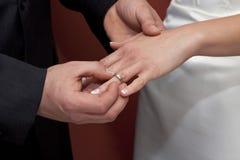 ее венчание кольца Стоковое фото RF