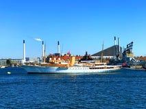 Ее датская яхта Dannebrog ` s высочества Стоковые Изображения