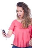 ее кричать женщины телефона Стоковое фото RF
