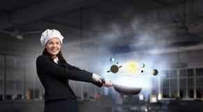 Ее рецепт успеха Мультимедиа Стоковые Фотографии RF