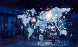 Ее стратегия глобального бизнеса стоковое изображение
