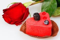ежевики ягод испекут розовую Стоковое фото RF