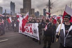 Ежегодный марш дня 2017 национальной независимости ` s Польши Стоковая Фотография RF