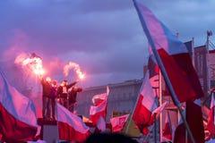 Ежегодный марш дня 2017 национальной независимости ` s Польши Стоковое Фото