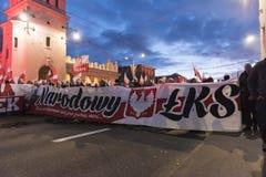 Ежегодный марш дня 2017 национальной независимости ` s Польши Стоковые Изображения