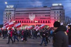 Ежегодный марш дня 2017 национальной независимости ` s Польши Стоковые Фотографии RF