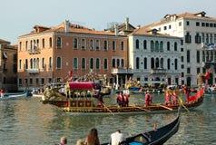 Ежегодная регата вниз с грандиозного канала в Венеции Италии Стоковые Фото