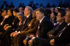 Ежегодное собрание 2015 Мирового форума Давос Стоковое Изображение RF