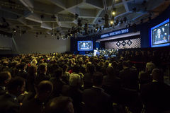 Ежегодное собрание 2015 Мирового форума Давос Стоковое фото RF