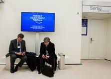 Ежегодное собрание 2015 Мирового форума Давос Стоковое Фото
