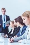 Ежегодное собрание с доской менеджеров Стоковые Фотографии RF