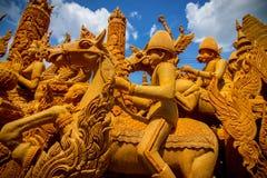Ежегодный одолженный фестиваль 2559 свечи на памятнике Suranaree Стоковое Изображение