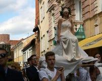 Ежегодный парад студентов университета Вильнюса, Литва Стоковые Изображения