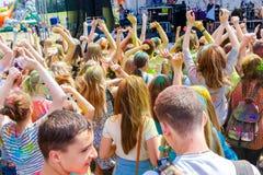 Ежегодный фестиваль цветов ColorFest стоковые фотографии rf
