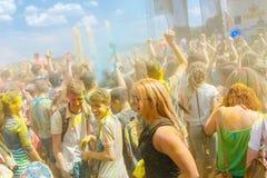 Ежегодный фестиваль цветов ColorFest стоковое изображение rf