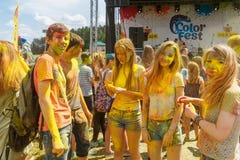 Ежегодный фестиваль цветов ColorFest стоковые фото