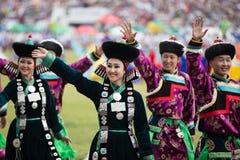 Ежегодный фестиваль Nadaam, традиционное Mongilian Стоковая Фотография